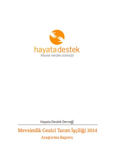 Mevsimlik Gezici Tarım İşçiliği 2014